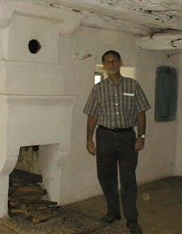 Joe in the kulla in Fushe Lura, the day he died, May 19, 2002